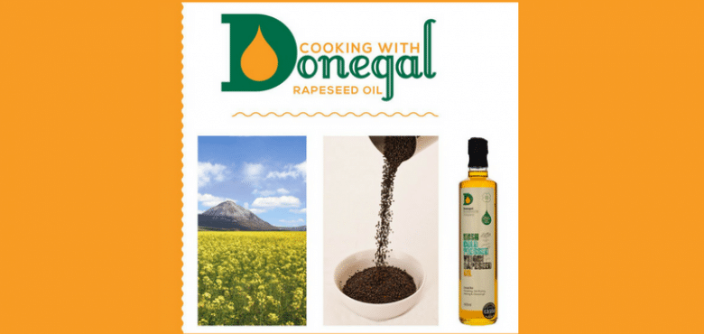 NOW CLOSED WIN with Good Food Ireland a Copy of Cooking with Donegal Rapeseed Oil Cookbook