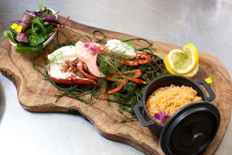 Lobster at the Tavern Restaurant Murrisk