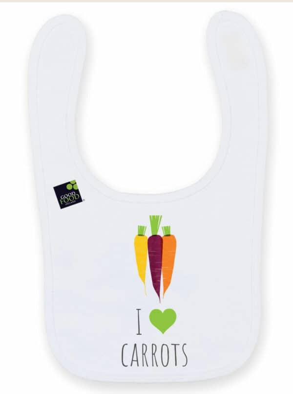 I love carrots baby bib