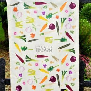 Locally Grown Collection Tea Towel