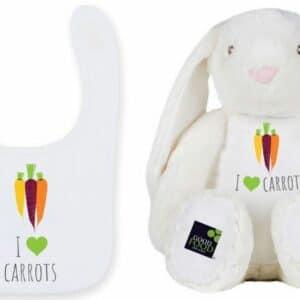 I Love Carrots Bunny & Bib