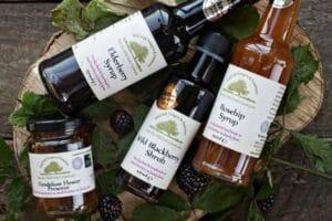 Wild blackberries syrup