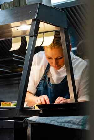 Anna Haugh in the Myrtle Restaurant