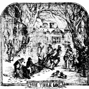 History of The Yule Log, Christmas Cake
