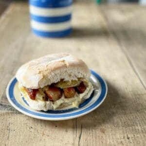 Sausage Sandwich with Waterford Blaa
