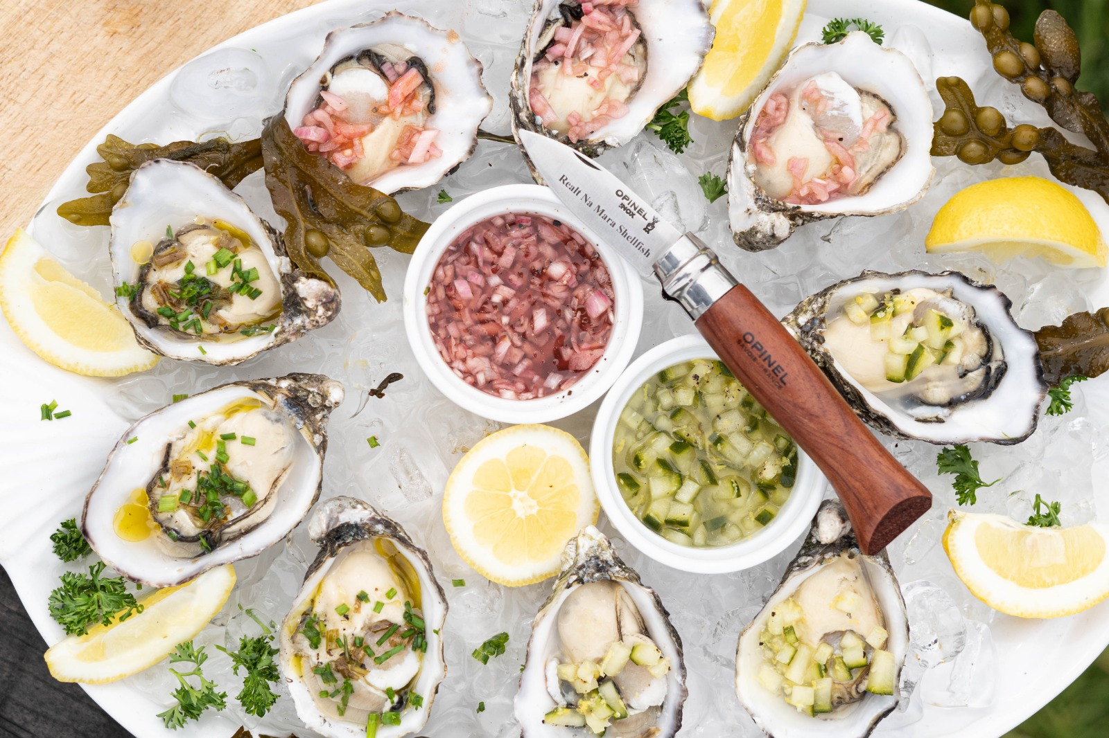 Realt na Mara Oysters with Mignonette Sauce